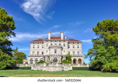 Newport, USA - CIRCA 2010: The Breakers Mansion in Newport, Rhode Island. The Breakers is one of the most fabulous mansions built in 1893.