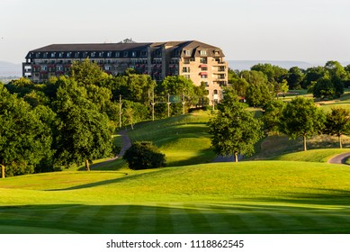 Newport, Wales, UK, June 22, 2018: The Celtic Manor Golf and Hotel Resort Complex near Newport in Wales UK