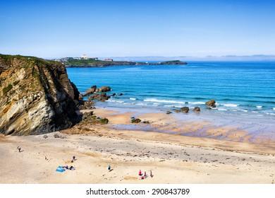 Newquay beach North Cornwall