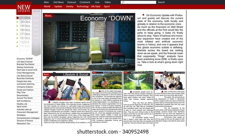 News Article Webpage Advertising Announcement Concept