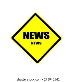 News black stamp text on yellow background