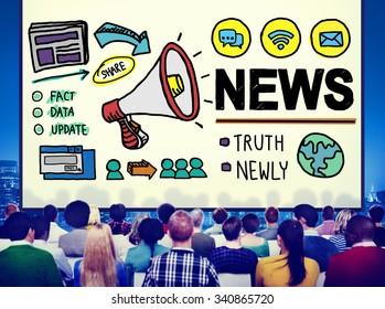 News Broadcast Information Media Publication Concept