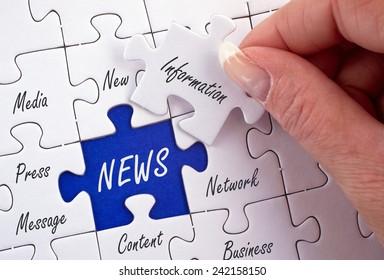 NEWS - Business Concept