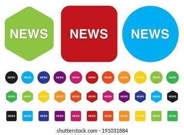 News button - illustration