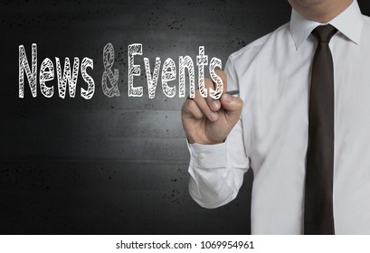 News and Events is written by businessman on screen.