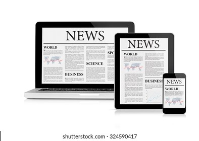 News feed on mobile devices