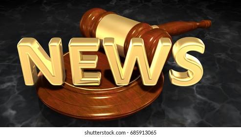 News Legal Concept 3D Illustration