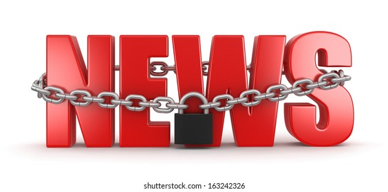 News and lock (clipping path included)