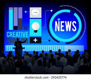 News Media Global Communication Publication Concept