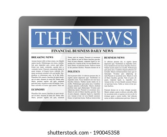news on tablet