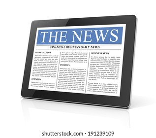 the news on tablet computer