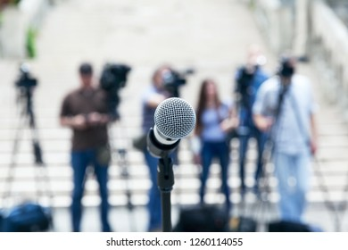 News or press conference