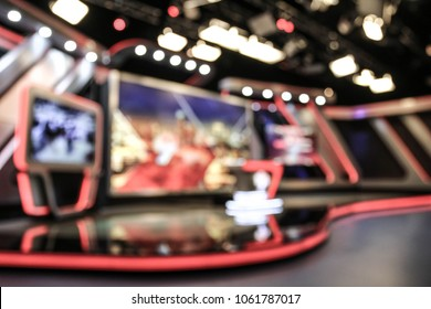 News Studio photo shoot blurred. Fits into the background