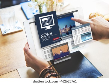News Update Journalism Headline Media Concept