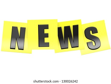 News in yellow note