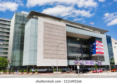 The Newseum in Washington D.C. on June 12, 2018. The Newseum opened in 2008 and celebrates the role and importance of the 1st Amendment  in American life and history.