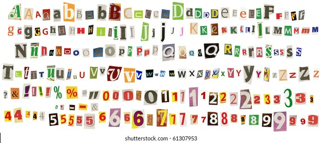 Newspaper Letters Images  Stock Photos  U0026 Vectors