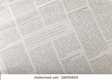 newspaper background, top view
