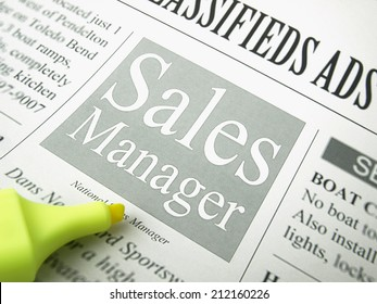 Newspaper classifieds / Sales management