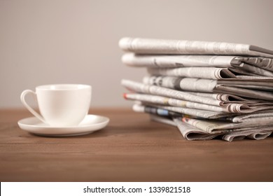 newspaper  coffee  eyeglasses