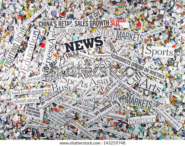 newspaper concept background