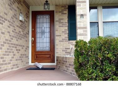 Newspaper Delivered To Front Door