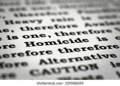 Newspaper with focus on the word Homicide