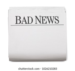 Newspaper Headlines Bad News