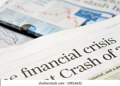 Newspaper headlines - financial crisis