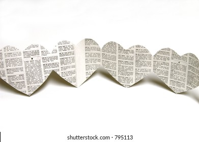 Newspaper Heart Shaped Cutouts