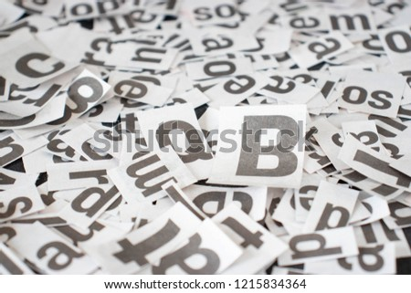 Newspaper Letters Background Stock Photo Edit Now 1215834364