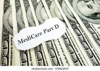 Newspaper Medicare Part D headline on money