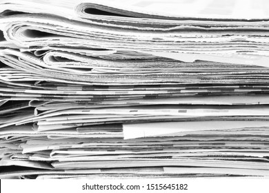 Newspaper Pages Side View, Paper Texture for Background