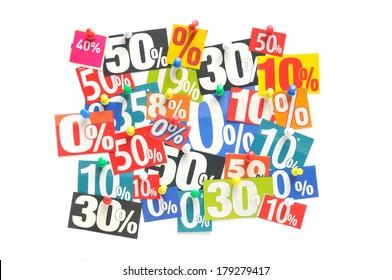 Newspaper percentage advertisements