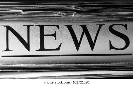 Newspaper. Selective focus.