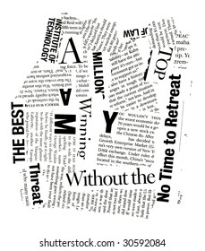 Newspaper texts for background