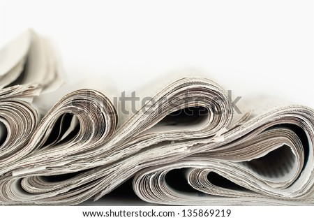 newspapers abstract formation closeup