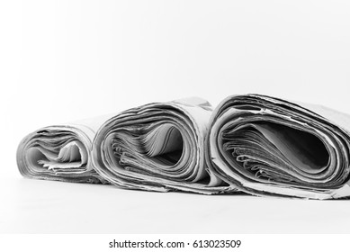 newspapers  isolated on white background.