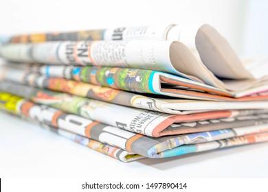 Newspapers, magazines, print media, coverage