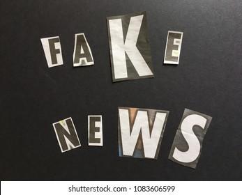 Newsprint spelling Fake news