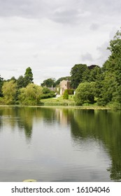 Newstead Abbey lake Nottingham UK