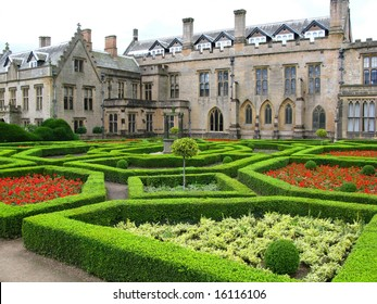 Newstead Abbey and spanish garden,Nottingham UK