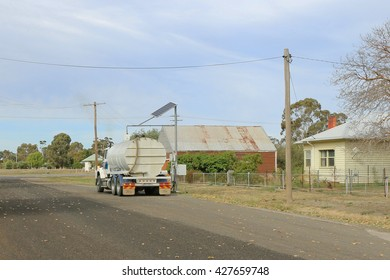 NEWSTEAD, VICTORIA, AUSTRALIA - April 27, 2016: A computerised operating system has been installed on the Tivey Street standpipe. This provides greater access to water for those with a permit