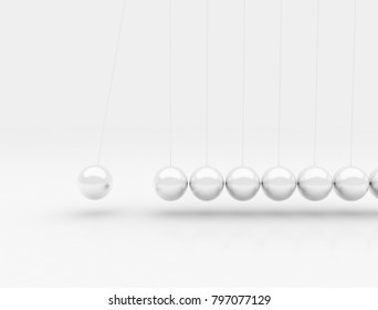Newton cradle 3d rendering