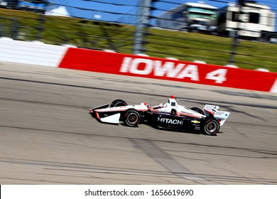 Newton Iowa, July 19, 2019: Josef Newgarden #2 driving for Team Penske, corner 4 Iowa Speedway during practice session for the Iowa 300 Indycar race.