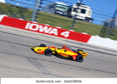 Newton Iowa, July 19, 2019: 28  Ryan Hunter-Reay, USA, Andretti Autosport, on race track during practice session for the Iowa 300 Indycar race.
