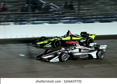 Newton Iowa, July 20, 2019: Night Racing, Will Power, #12 racing for Team Penske, on the race track during  the Iowa 300 Indycar race.