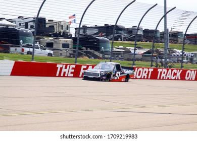 Newton, Iowa - June 15, 2019: Chandler Smith, NASCAR Gander Outdoors Truck Series M&M 300 race 2019