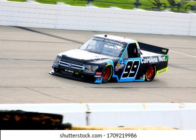 Newton, Iowa - June 15, 2019: Ben Rhodes, NASCAR Gander Outdoors Truck Series M&M 300 race 2019