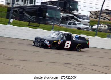 Newton, Iowa - June 15, 2019: Trey Hutchens III , NASCAR Gander Outdoors Truck Series M&M 300 race 2019